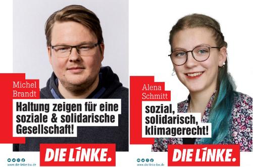 Alena Schmitt und Michel Brandt